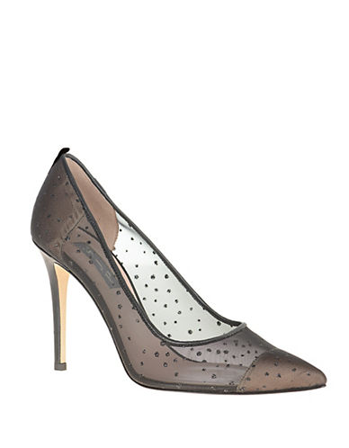 Sjp By Sarah Jessica Parker Glass Mesh Point Toe Pumps-BLACK-9