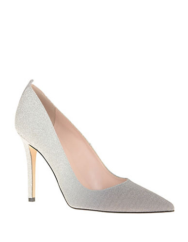 Sjp By Sarah Jessica Parker Fawn Satin Point Toe Pumps-GREY-11