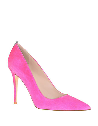 Sjp By Sarah Jessica Parker Suede Point Toe Pumps-PINK-8.5
