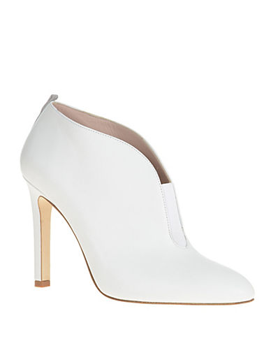 Sjp By Sarah Jessica Parker Trois Leather Booties-WHITE-8.5