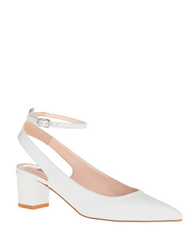 Sjp By Sarah Jessica Parker Maya Leather Ankle-Strap Pumps-WHITE-10