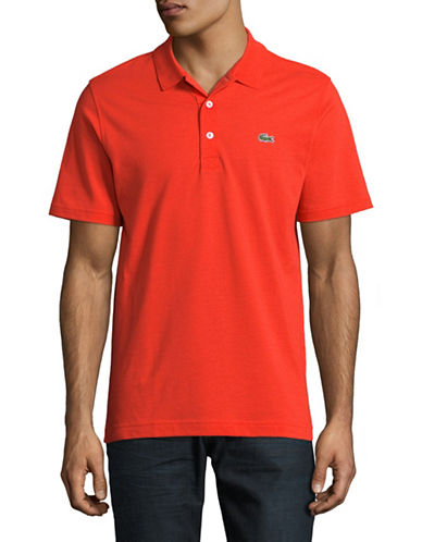Lacoste Cotton Polo-RED-XX-Large