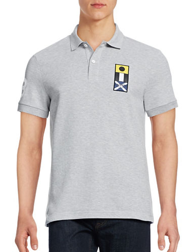 Lacoste Chest Patch Polo-SILVER CHINE-Large