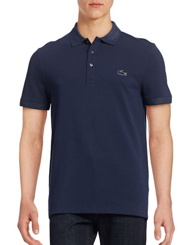 Lacoste Contrast Knit Regular-Fit Polo-NAVY BLUE-X-Large