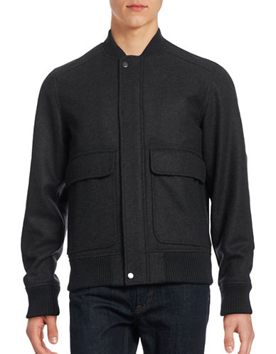 Lacoste Wool-Blend Bomber Jacket-CARTHUSIAN-50