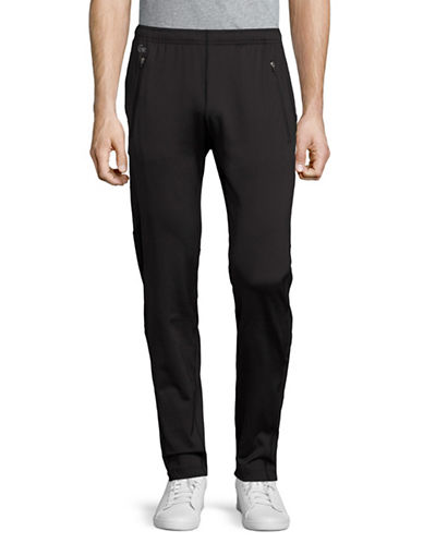Lacoste Solid Tracksuit Trousers-BLACK-XX-Large