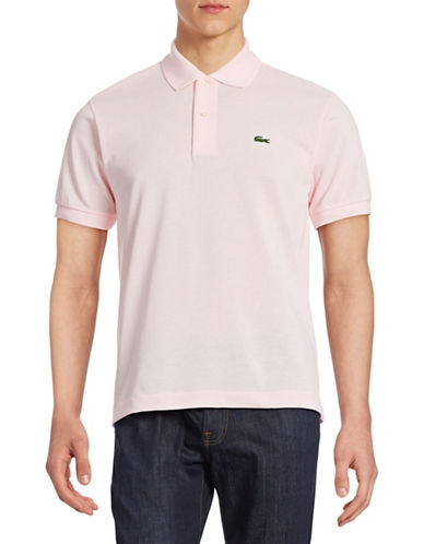 Lacoste Classic-Fit Solid Cotton Polo-FLAMINGO-Large