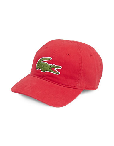 Lacoste Big Croc Sports Cap-RED-One Size