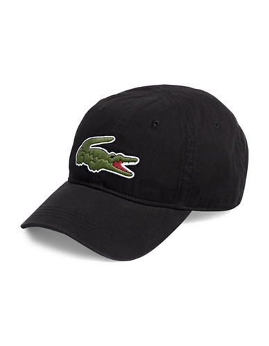 Lacoste Big Croc Cap-BLACK-One Size