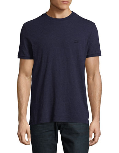 Lacoste Regular-Fit Heathered T-Shirt-NAVY BLUE-X-Large