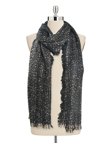 Collection 18 Herringbone Knit Runway Wrap-BLACK PAINT-One Size