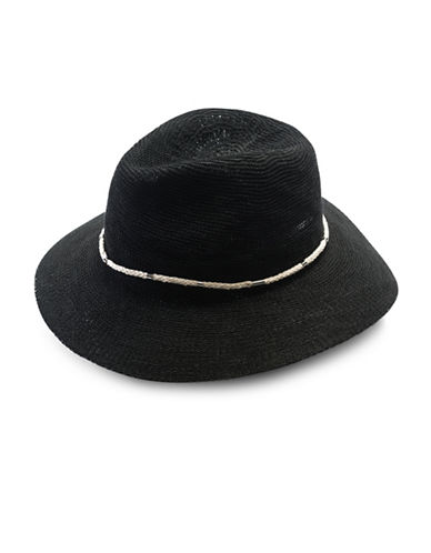 Vince Camuto Rope Band Panama Hat-BLACK-One Size