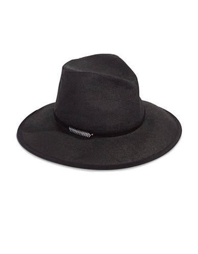 Vince Camuto Paper Panama Hat-BLACK-One Size