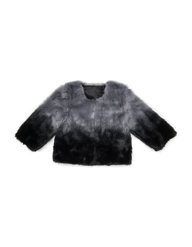 Collection 18 Ombre Faux Fur Jacket-BLACK-Medium/Large 88518940_BLACK_Medium/Large