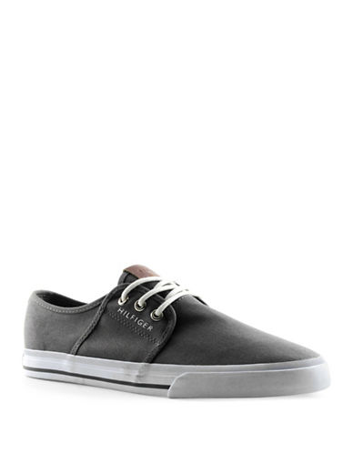 Tommy Hilfiger Pala Canvas Sneakers-GREY-9.5