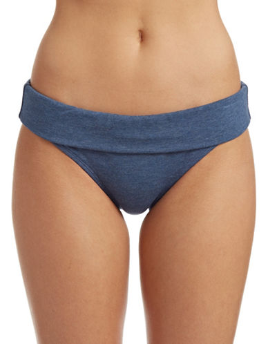Splendid Full Bloom Banded Bikini Bottoms-BLUE-Small