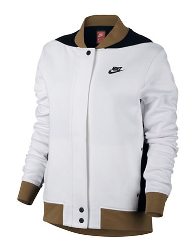 Nike Tech Fleece Destroyer Jacket-WHITE-Large 88952925_WHITE_Large