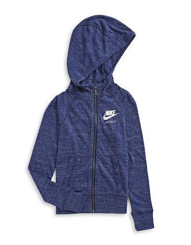 Nike Vintage Melange Zip Hoodie-BLUE-Large 89295318_BLUE_Large
