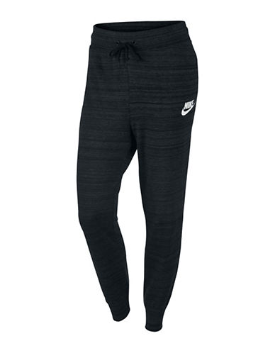 Nike AV15 Drawstring Knit Pants-BLACK-X-Small