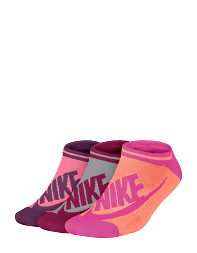 Nike Three-Pack Logo Cotton Liner Socks Set-MULTI-Medium