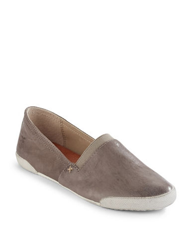 Frye Melanie Slip-On Leather Sneakers-GREY-9
