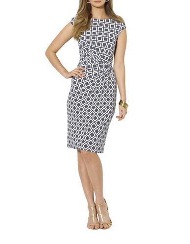 Lauren Ralph Lauren Printed Jersey Knot Dress-GREY-12 88148923_GREY_12