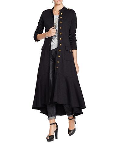 Denim & Supply Ralph Lauren Long Officers Coat-BLACK-X-Large 88012455_BLACK_X-Large
