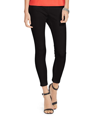 Lauren Ralph Lauren Petite Stretch Cotton Skinny Pants-BLACK-Petite 12 88367540_BLACK_Petite 12