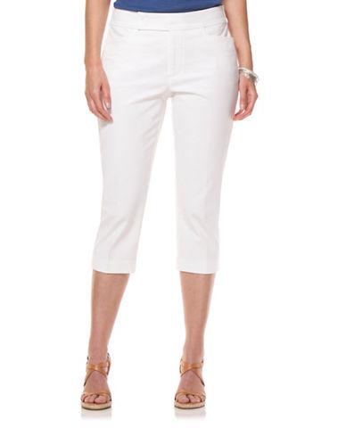 Chaps Plus Straight Leg Capri Pant-WHITE-24W 88299180_WHITE_24W