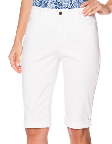 Chaps Plus Cropped Cotton Five-Pocket Pants-WHITE-24W 88344100_WHITE_24W