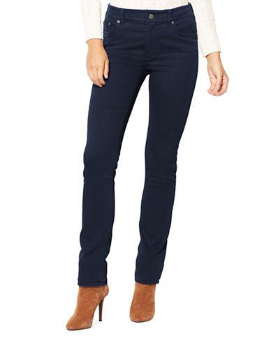 Lauren Ralph Lauren Petite Premier Straight Jeans-BLUE RINSE-Petite 8