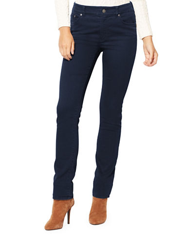 Lauren Ralph Lauren Petite Premier Straight Jeans-BLUE-Petite 14