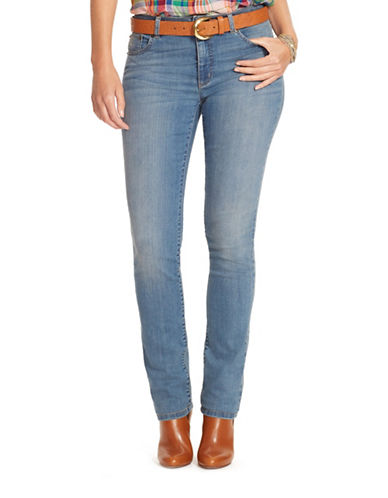 Lauren Ralph Lauren Plus Premier Straight Jeans-BLUE-16W