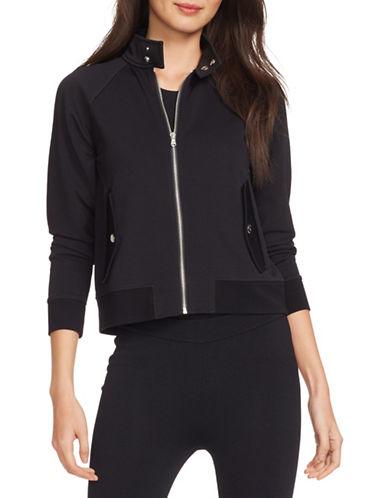 Lauren Ralph Lauren Pique Full-Zip Bomber Jacket-BLACK-Small 88433177_BLACK_Small