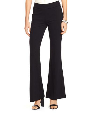 Lauren Ralph Lauren Petite Flared Ponte Pants-BLACK-Petite X-Small