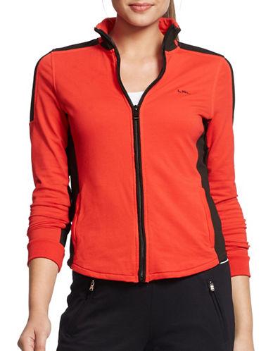 Lauren Ralph Lauren Colourblock Cotton Jacket-CORAL-X-Large 88097426_CORAL_X-Large
