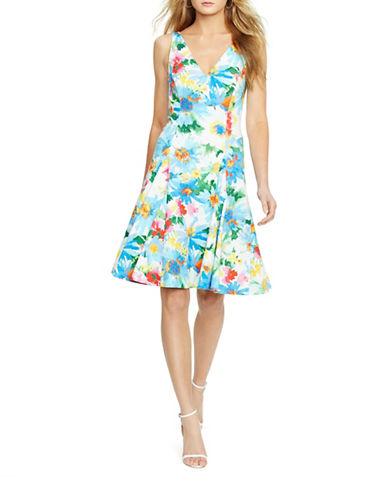 Polo Ralph Lauren Floral-Print V-Back Dress-MULTI-14