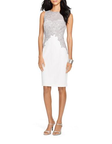 Lauren Ralph Lauren Zinna Lace Crepe Dress-GREY-10 88193803_GREY_10