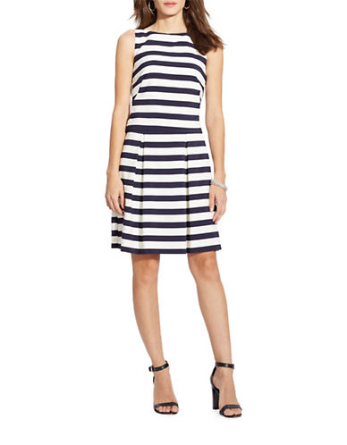 Lauren Ralph Lauren Striped Fit-And-Flare Dress-BLUE-10 88240705_BLUE_10
