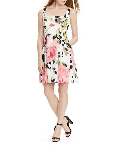 Lauren Ralph Lauren Floral Jersey Dress-WHITE-12 88193876_WHITE_12