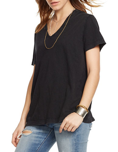 Denim & Supply Ralph Lauren Jersey V-Neck Tee-BLACK-Small 88460688_BLACK_Small