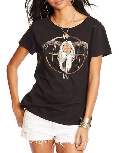 Denim & Supply Ralph Lauren Drapey Cotton Graphic Tee-BLACK-Small 88460740_BLACK_Small