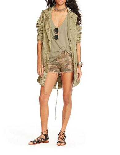 Denim & Supply Ralph Lauren Drawstring Waist Fishtail Jacket-GREEN-Medium 88460758_GREEN_Medium