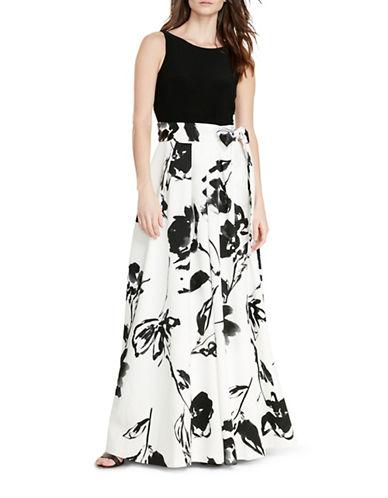 Lauren Ralph Lauren Floral Gown-WHITE-8
