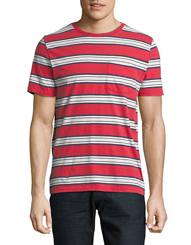 Brixton Hilt Washed Cotton T-Shirt-RED-Medium 90037527_RED_Medium