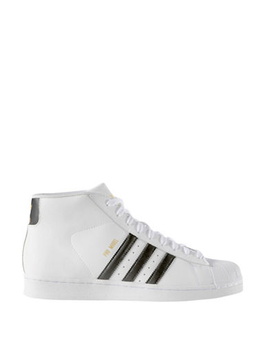 Adidas Originals Pro Model High-Top Sneakers-WHITE-10