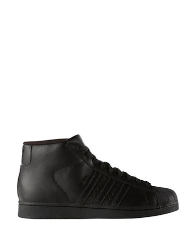 Adidas Originals Pro Model High-Top Sneakers-BLACK-9.5