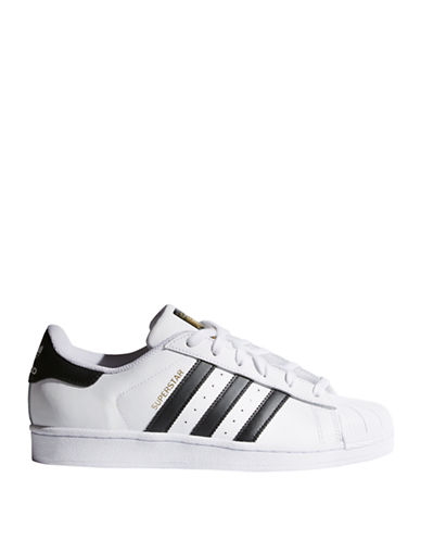 Adidas Womens Superstar Sneakers-WHITE-7.5