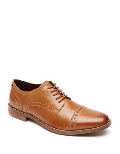Rockport Purpose Cap Toe Quarter Brogues-TAN-8.5W