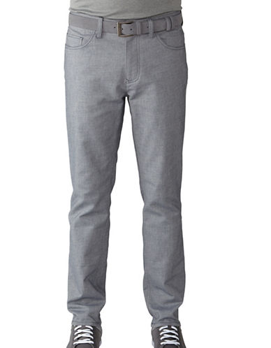 Ashworth Two-Tone Cotton Blend Twill Pants-NAVY-32